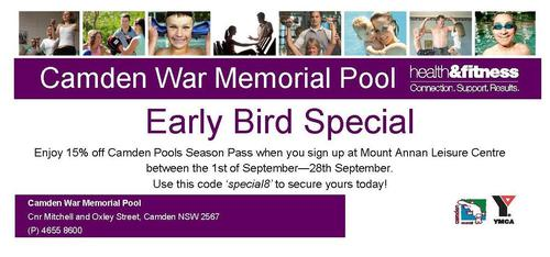 Super early bird special!