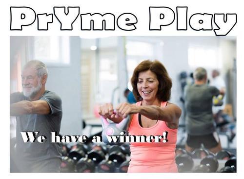 PrYme Play - we have a winner!