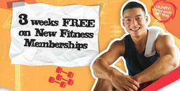 3 weeks fitness for FREE!
