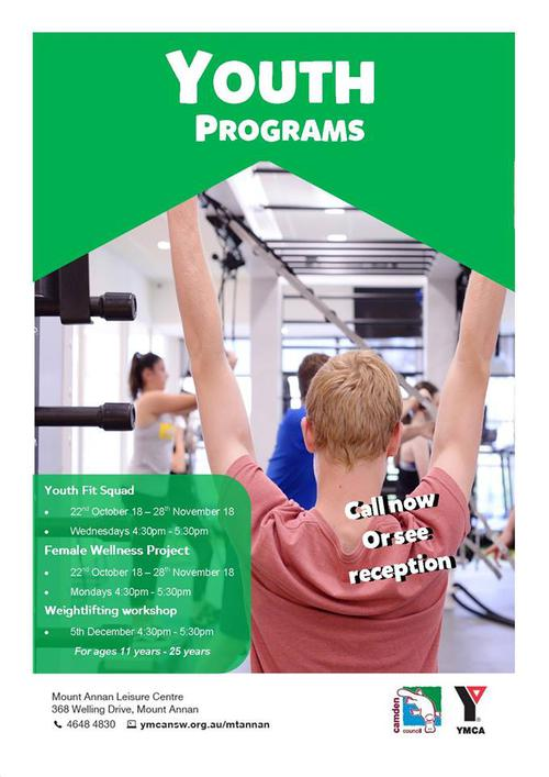 New youth programs launching 22nd October!