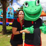 🐸 Catch Philbert, the fire brigade and live bands at Camden Pools today 🐸