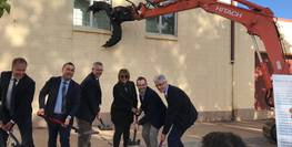 16th May 2018 - First sod turned on the new YMCA Broken Hill Integrated Wellness Centre