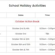 Action Break Timetable Out!