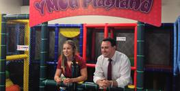 Getting Children to Play with New YMCA Playland