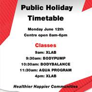 Public Holiday - 12 June