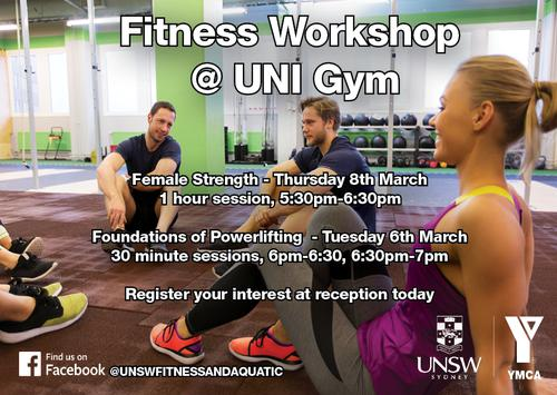 UNSW Fitness Workshop
