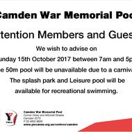 Mt Annan swimming club carnival Sunday 15th October 2017 at Camden War Memorial Pool