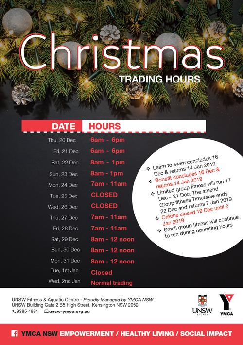 Christmas Trading Hours 2018