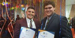 Young men honoured for raising their voices
