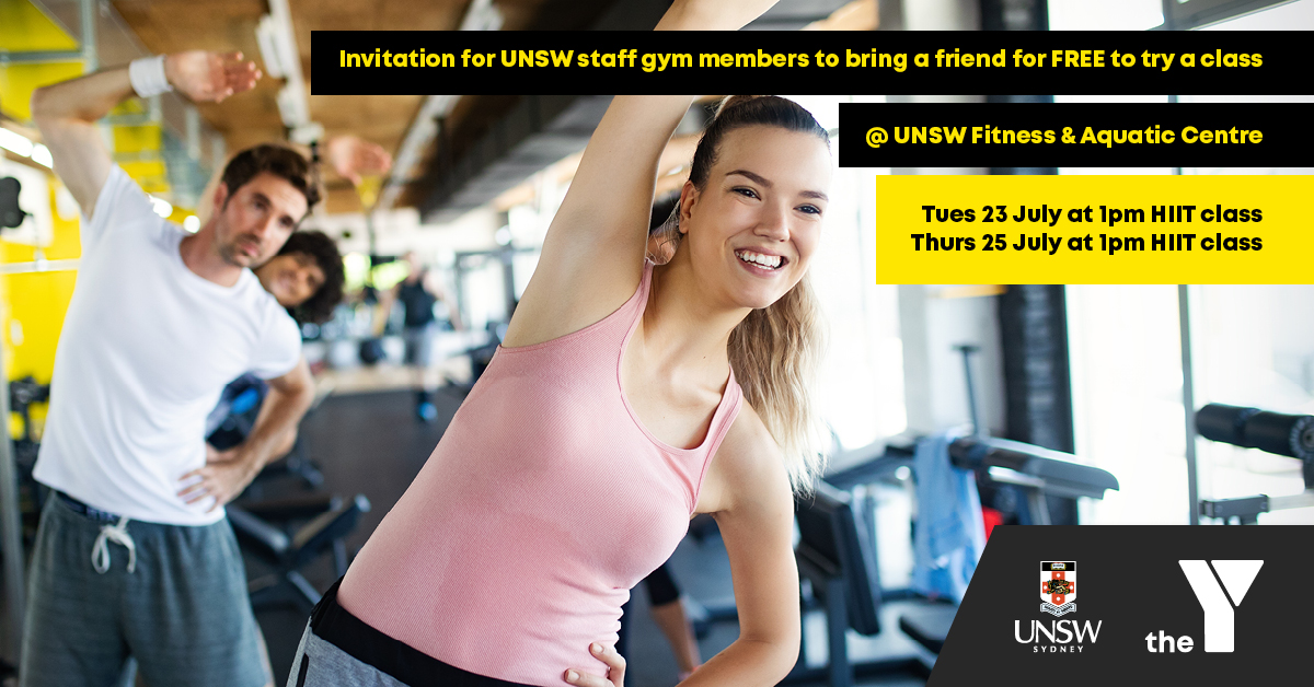 UNSW Staff 'Bring a friend for FREE'