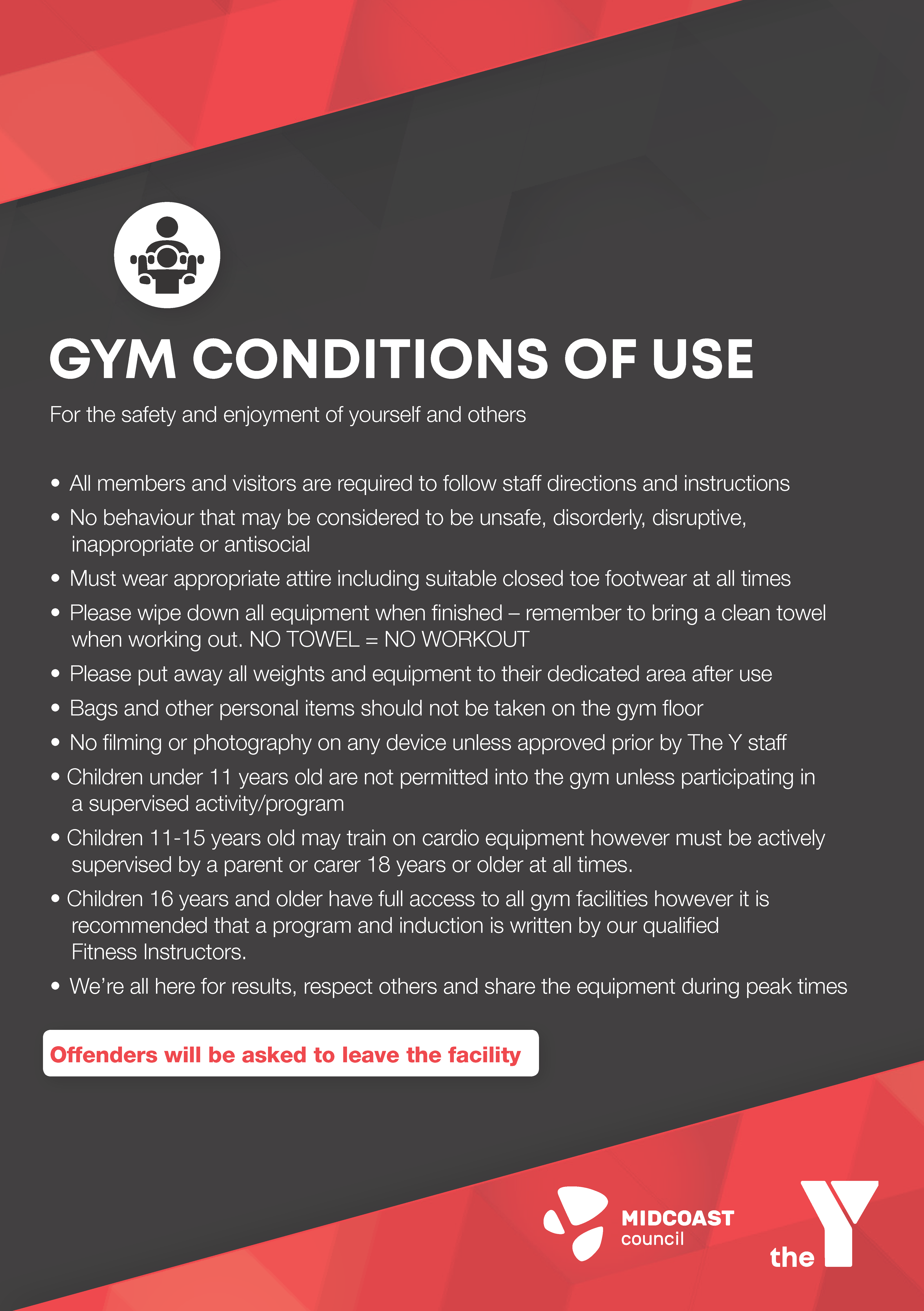 Gym Condtions of Use