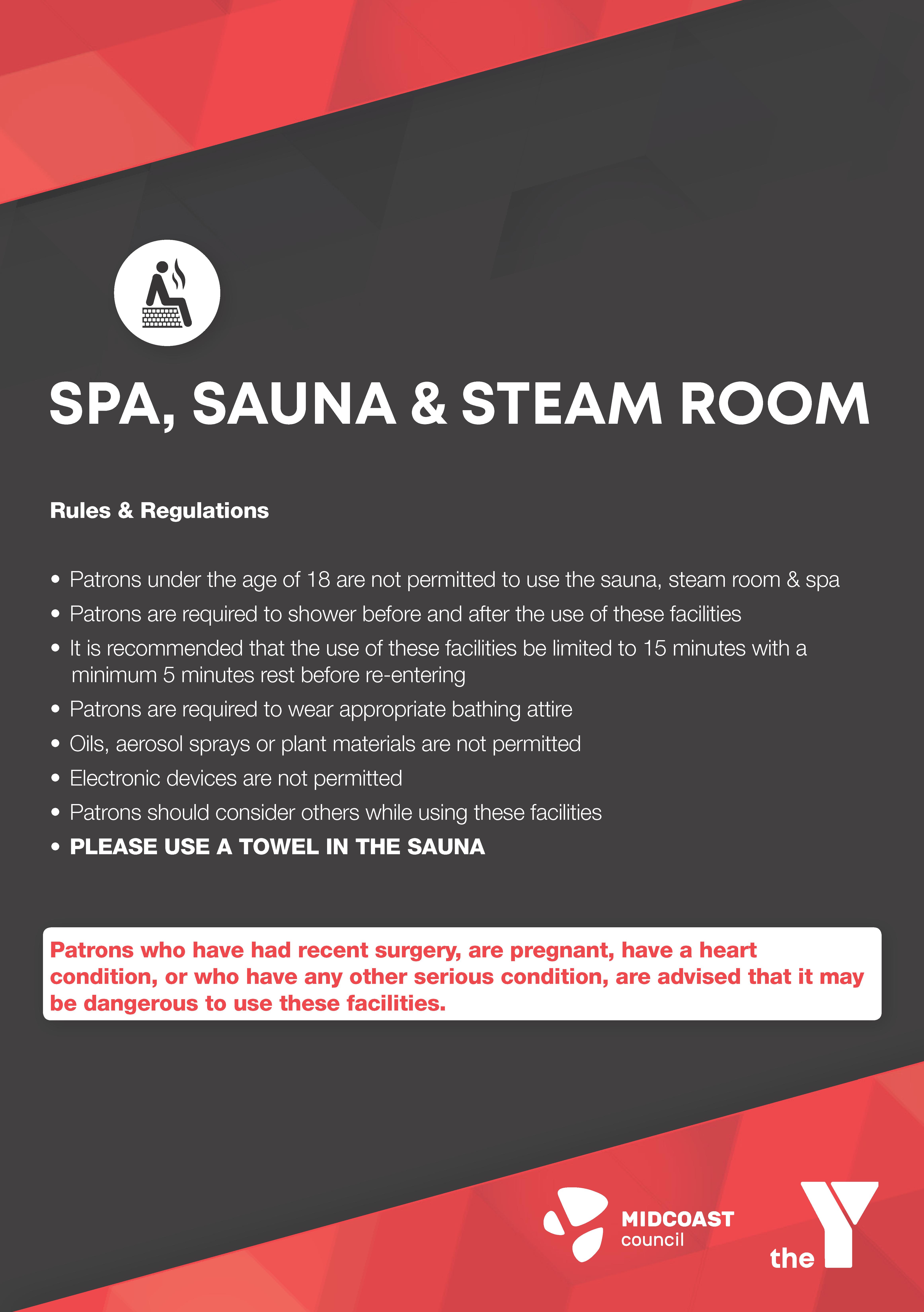 Spa, Sauna and Steam Room